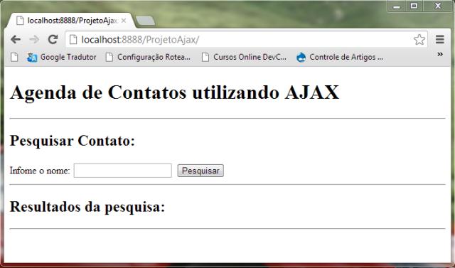 Página no navegador