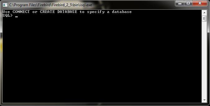 Exibe a tela inicial do isql.
