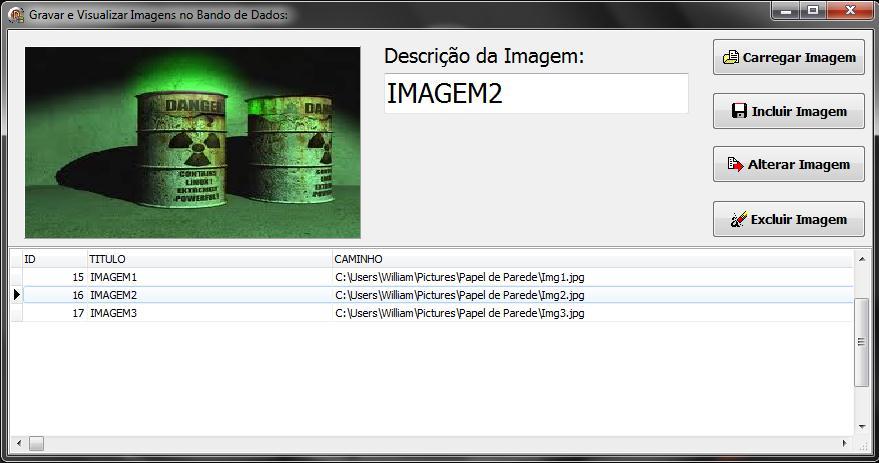 Exibe imagem após seleção do registro no DBGrid