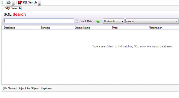 sql search view