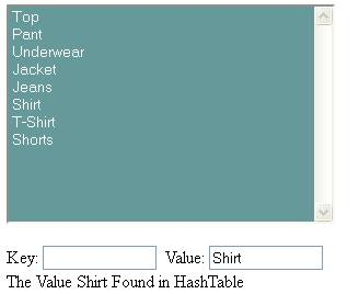  HashTable Find Value - Shirt