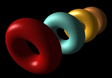 Shows the image of torus for understanding the concept of 3D