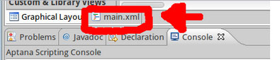 Directing to access the main.xml file